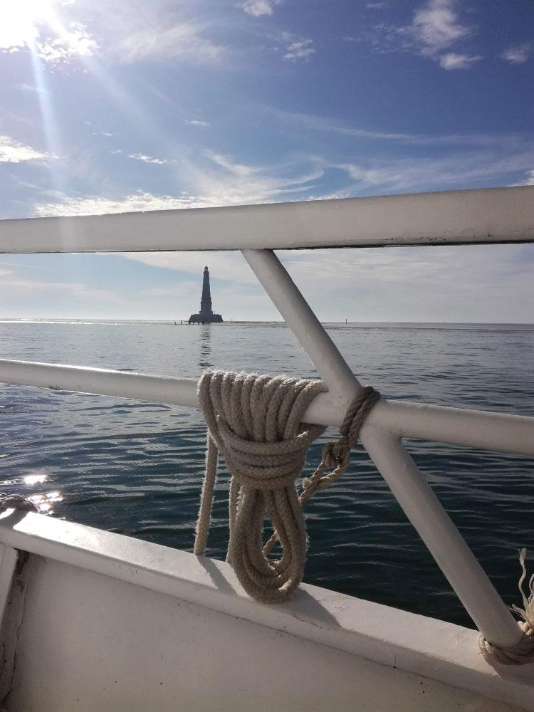 Le phare de Cordouan depuis la vedette La Bohème